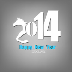 Creative Happy New Year 2014.Infographic Calendars Vector