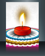 Beautiful diwali brochure card template vector
