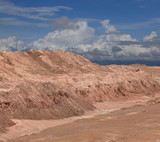 sand mountain  as desert make form retouching poster
