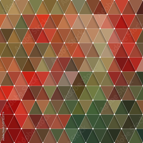 Deurstickers ZigZag Triangles Pattern