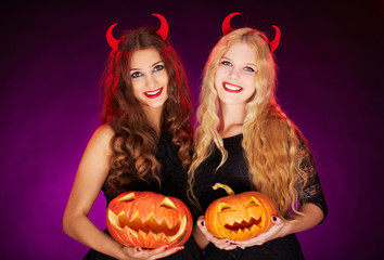 Witches with horns