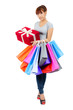 Young asian woman with shopping bags