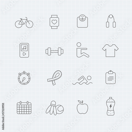 exercise vector thin line symbol icon
