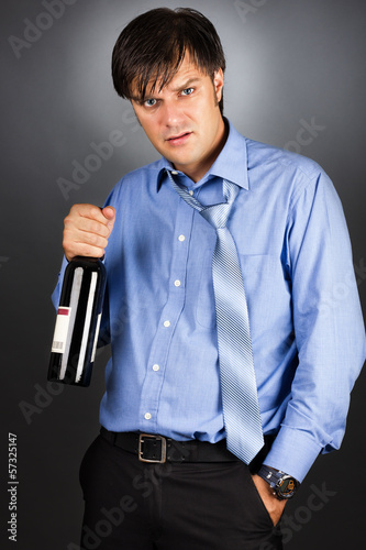 Portrait of a drunk businessman