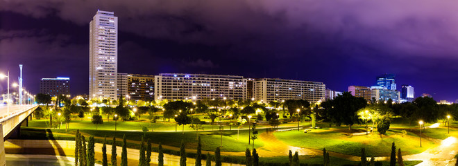 Panorama of residential district . Valencia, Spain