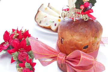 Panettone, typical Italian Christmas cake and Christmas