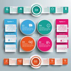 Big Infographic Drops Batched Rectangles Circles