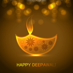 Diwali festival Greeting card colorful background illustration