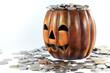 pumpkin and coin