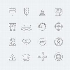 traffic vector thin line symbol icon