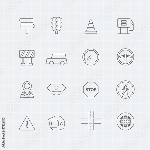 traffic vector thin line symbol icon