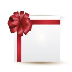 вектор подарок с красным бантом