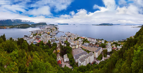 Panorama of Alesund Norway