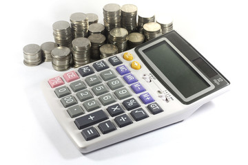 calculator with coin