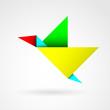 kolorowy ptak logo