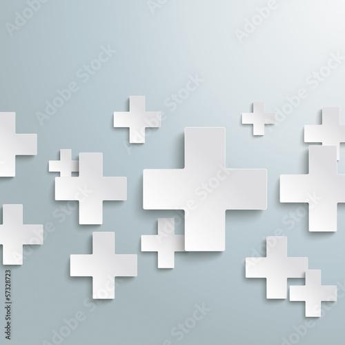 White Plus Symbols PiAd