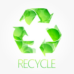 recycle green symbol poster