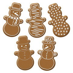 christmas snowman gingerbread
