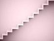 Stairs concept red rendered