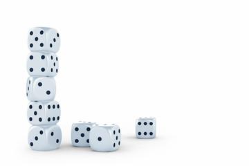 White dices
