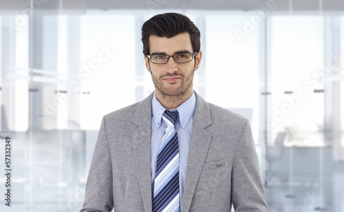 Corporate businessman at office