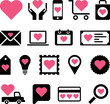 Conceptual Heart icons