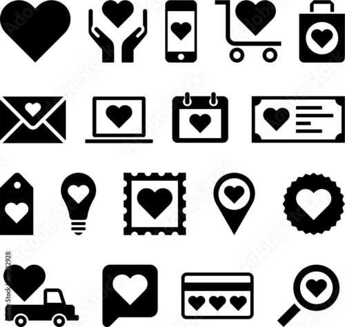 Conceptual Heart icons