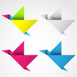 ptak origami zestaw logo