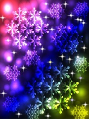 Colored snowflakes