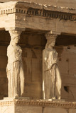 Porch of Caryatids in Erechtheion on Acropolis Hill, Athens poster