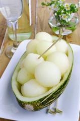 Melon and white wine