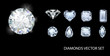 Diamond shapes collection - 57336119