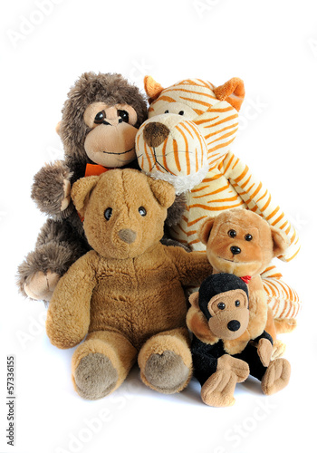 group of teddy toys