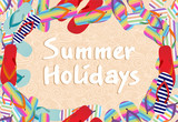 summer holidays seamless pattern