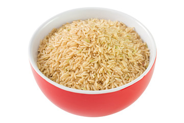 rice integral in red bowl