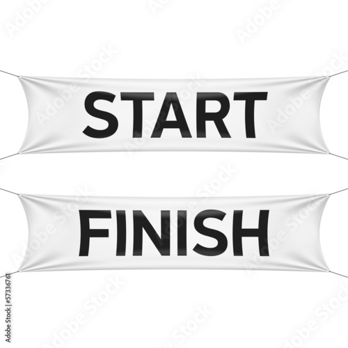 Starting and finishing lines banners