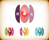 Abstract circles infographic colorful template