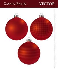 A Set of Dark Red Christmas Balls