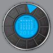 Cool digital rotateable calendar for 2014