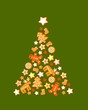 Christmastree cookies vector