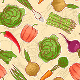 seamless autumn vegetables