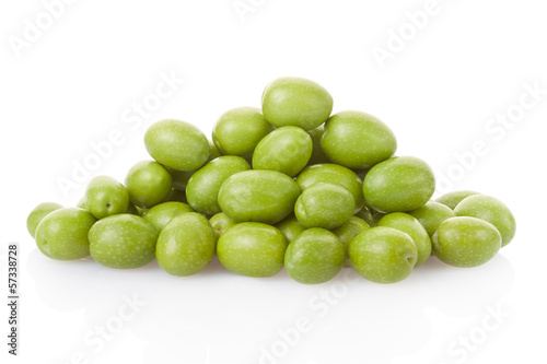 Olive heap on white, clipping path included
