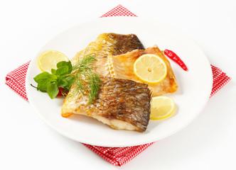 Oven roasted carp