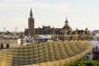 Leinwanddruck Bild - parasol on the sevilla city.