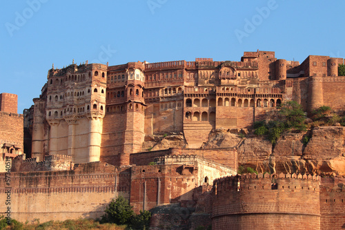 fort in Jodhpur in sunset light