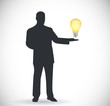 people and idea light bulb illustration design