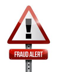 warning fraud alert road sign illustration design