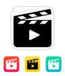 Clapper board open icon. - 57342533