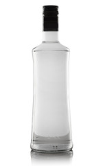 A bottle of strong alcohol on a white background.