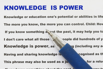 knowledge is power abstract